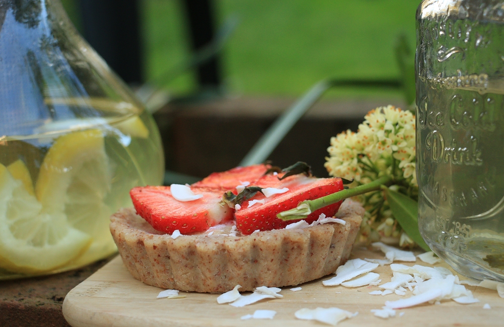 recipe of uncooked raw tart
